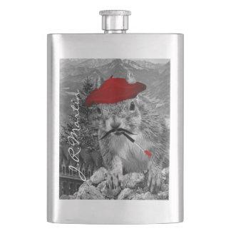 Cantil Pintor francês no esquilo vermelho da boina