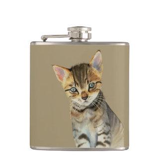 Cantil Pintura da aguarela do gatinho de Shorthair do