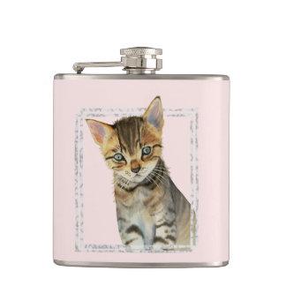 Cantil Pintura do gatinho do gato malhado com quadro de