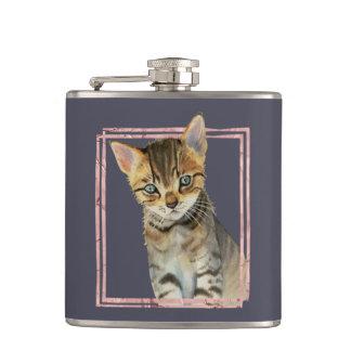 Cantil Pintura do gato de gato malhado com quadro