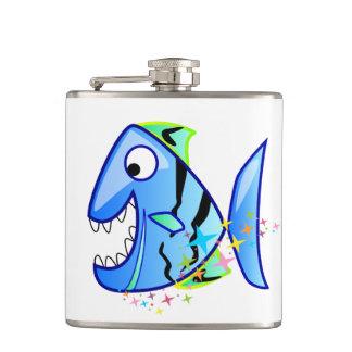 Cantil Piranha tropical azul com estrelas