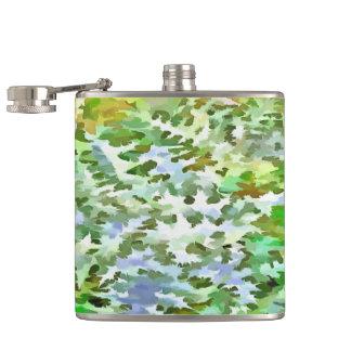 Cantil Pop art abstrato da folha no verde branco e no pó
