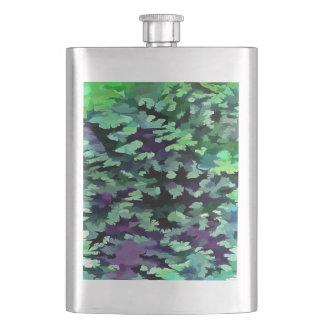 Cantil Pop art abstrato da folha no verde e no roxo de