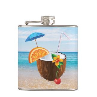 Cantil Praia tropical, céu azul, areia do oceano, coco