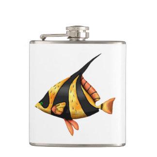 Cantil Preto e peixes tropicais do ângulo do ouro