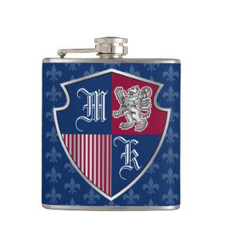 Cantil Protetor de prata do emblema do monograma da