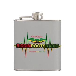 Cantil Riddim enraíza o vinil cinzento de rádio a garrafa