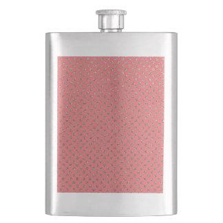 Cantil Rosa e garrafa da faísca do ouro