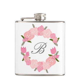 Cantil Rosas cor-de-rosa, tulipas, grinalda das flores,