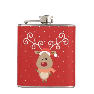 Cantil Rudolph bonito os desenhos animados cheirados
