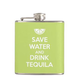 Cantil Salvar a água e beba o Tequila