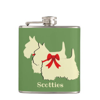 Cantil Scottish silhueta preta/branca de Terrier/nomes