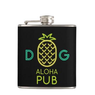 Cantil Série do monograma: Abacaxi. Aloha clube. Luz de