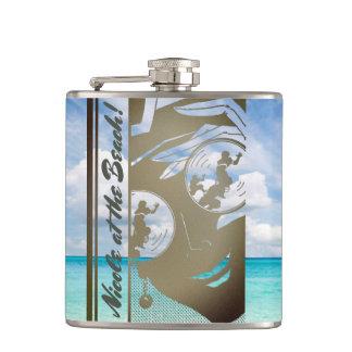 Cantil Seu nome nesta garrafa da menina da praia