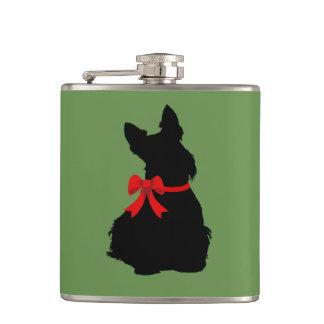 Cantil Silhueta preta de Terrier do Scottish que senta o