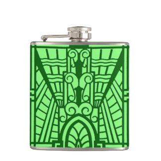 Cantil Teste padrão arquitectónico de Deco, verde de jade