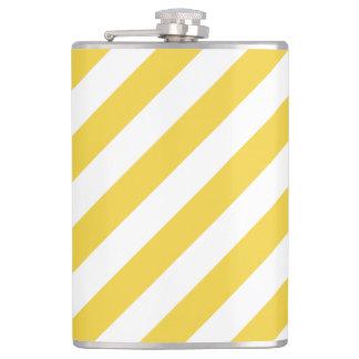 Cantil Teste padrão diagonal amarelo e branco das listras