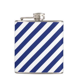 Cantil Teste padrão diagonal do azul marinho e o branco