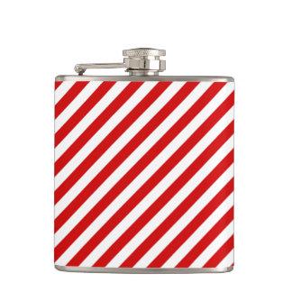 Cantil Teste padrão diagonal vermelho e branco das