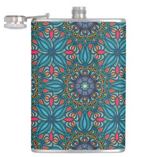 Cantil Teste padrão floral étnico abstrato colorido da
