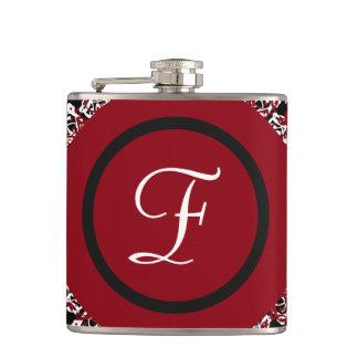 Cantil Teste padrão floral preto & branco vermelho