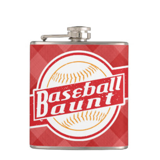 Cantil Tia garrafa anca de aço inoxidável do basebol