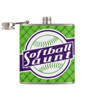 Cantil Tia garrafa anca de aço inoxidável do softball
