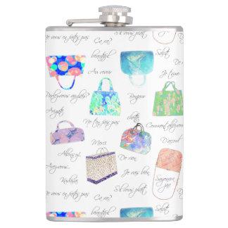 Cantil Tipografia floral Pastel das ilustrações da