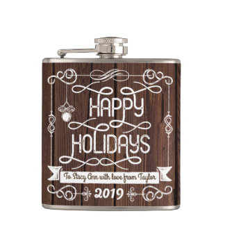 Cantil Tipografia rústica do Natal da madeira boas festas