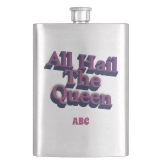 Cantil Todos saudam a rainha 3D com suas iniciais