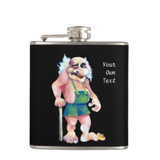 Cantil Troll de vista engraçado escandinavo do ogre
