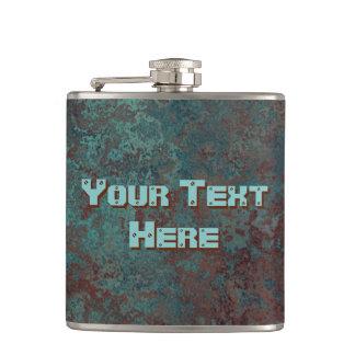 """Cantil Vinil """"de cobre"""" da garrafa do texto do impressão"""