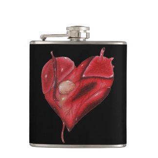 Cantil Vinil preto garrafa envolvida com coração do