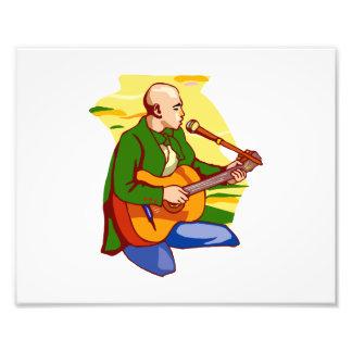 canto calvo green png do ajoelhamento da guitarra impressão fotográfica