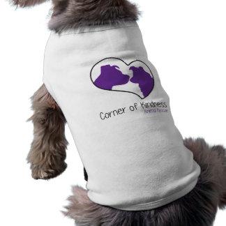 Canto da camiseta de cão da bondade
