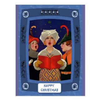 Canto da canção de natal - noite silenciosa cartão