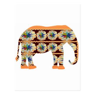 Canto dos miúdos - elefante pintado cartão postal