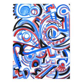 Canto exuberante - cartão da arte abstracta