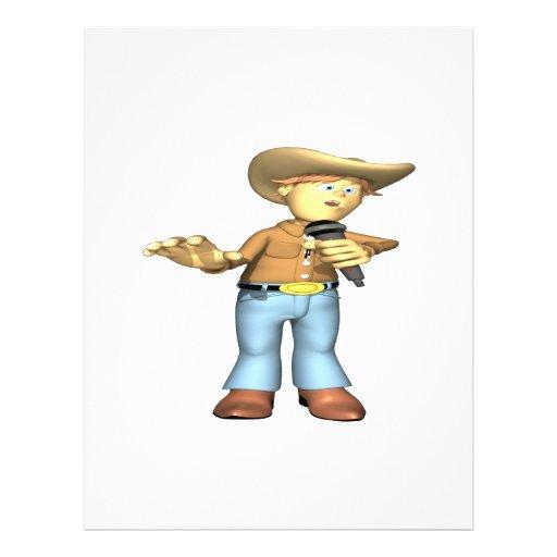 Cantor country 4 modelo de panfleto
