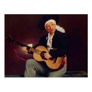 Cantor espanhol - Edouard Manet Cartoes Postais