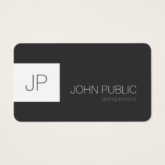 Cantos arredondados minimalistas elegantes cartão de visitas
