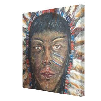 canvas 12x12: Indiano do nativo americano Impressão Em Tela