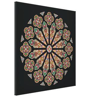 """Canvas 24x24 da janela de St Thomas """" Impressão De Canvas Esticada"""
