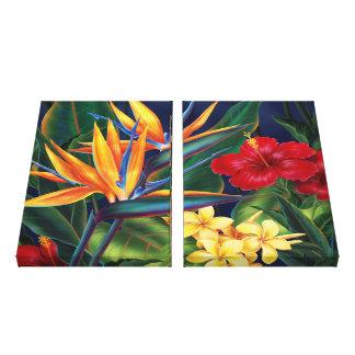 Canvas 2-Panel havaianas do paraíso tropical Impressão Em Tela