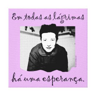Canvas A Esperança de Simone de Beauvoir