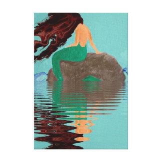 Canvas abstratas da água da rocha da sereia do