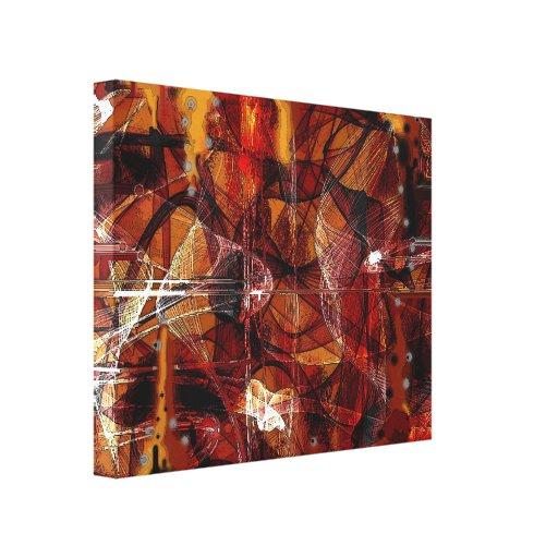 Canvas abstratas do APARELHO 11 Impressão De Canvas Envolvidas