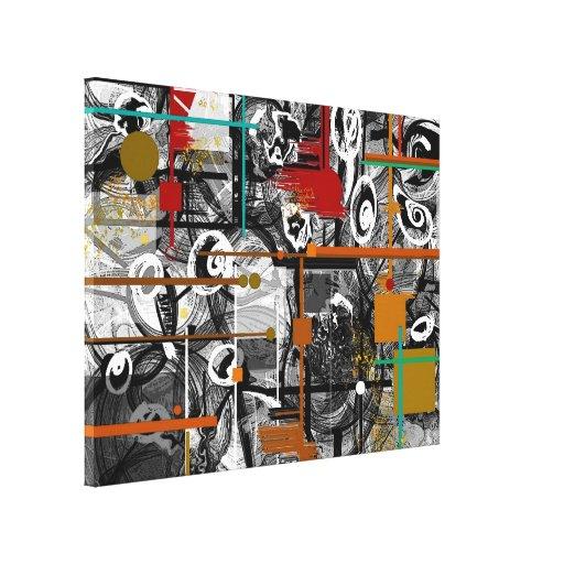 Canvas abstratas Scrappy Impressão Em Tela