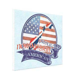 Canvas americanas norueguesas orgulhosas da caixa
