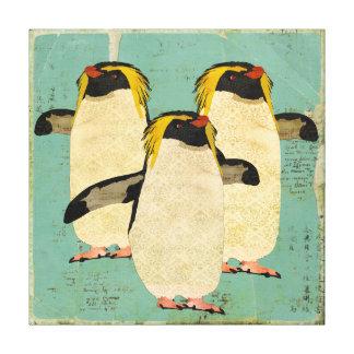 Canvas azuis da lagoa dos pinguins impressão em tela